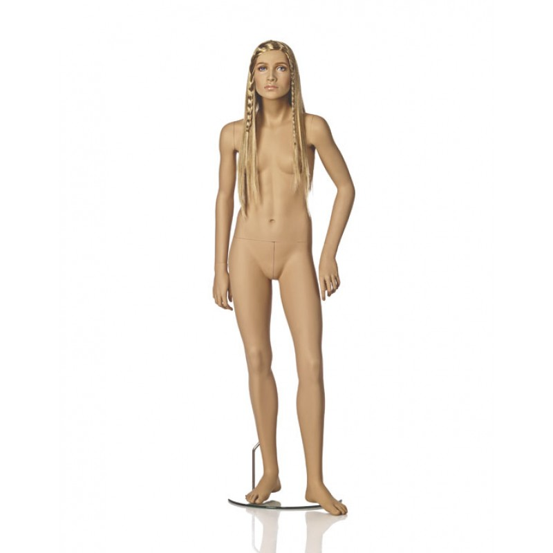 Hindsgaul naturalistic tween girl. Height 162 cm