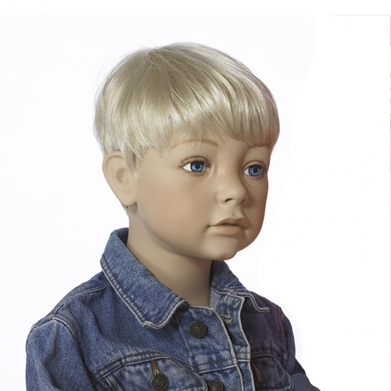 Styled wig for child mannequins