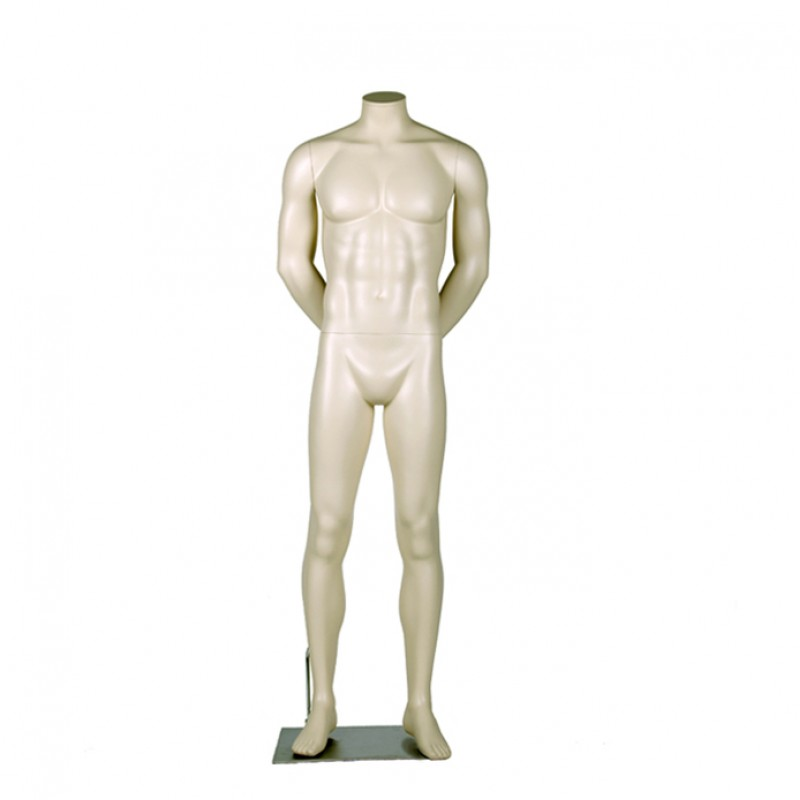MALE MANNEQUIN – HEADLESS - ARMS BEHIND THE BACK - DARROL 700 SERIES - NECK-LOCK SYSTEM
