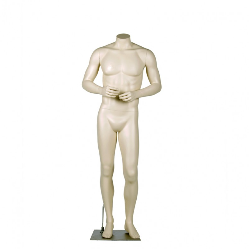 MALE MANNEQUIN –  HEADLESS - ARMS IN FRONT - DARROL 700 SERIES - NECK-LOCK SYSTEM
