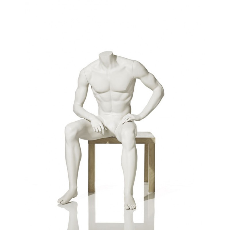 MALE MANNEQUIN – HEADLESS - SITTING – HINDSGAUL