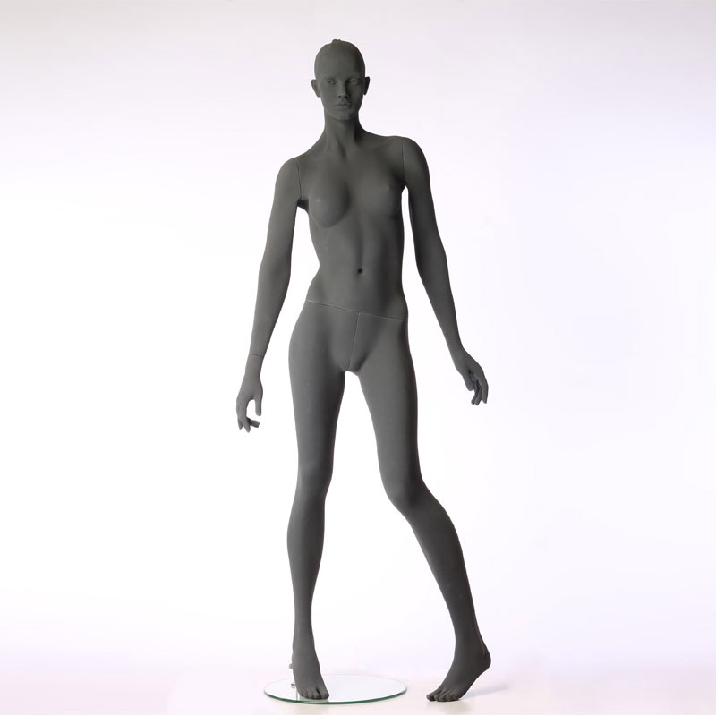 FEMALE MANNEQUIN - PURE STYLISED - WITH ROUGH SURFACE – LEG BENT – HINDSGAUL