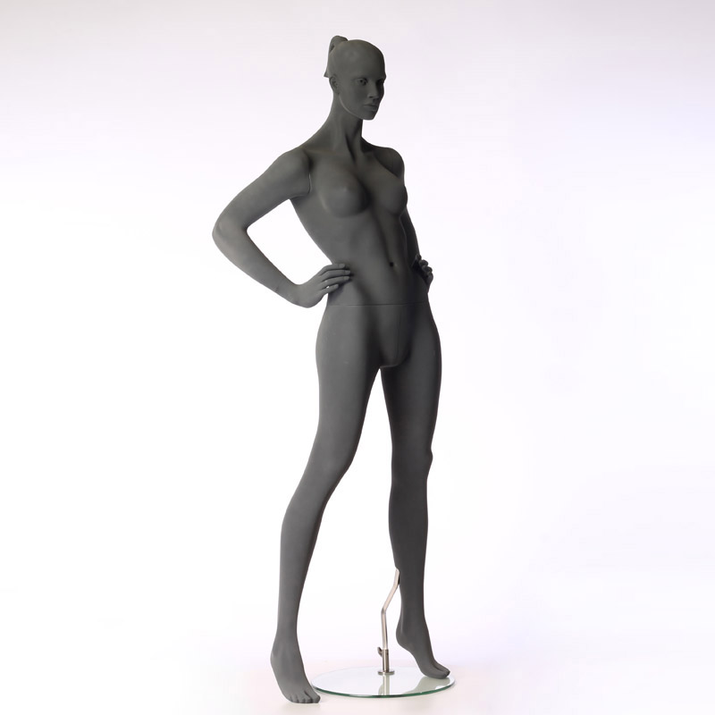 FEMALE MANNEQUIN - PURE STYLISED - WITH ROUGH SURFACE – HANDS ON HIPS – HINDSGAUL