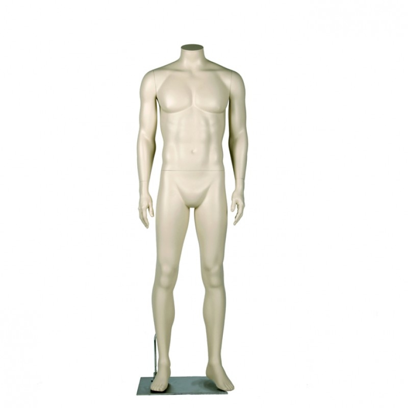 MALE MANNEQUIN – HEADLESS - NEUTRAL POSE - DARROL 700 SERIES - NECK-LOCK SYSTEM