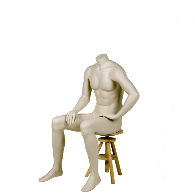 MALE MANNEQUIN – HEADLESS - SITTING - DARROL 700 SERIES - NECK-LOCK SYSTEM