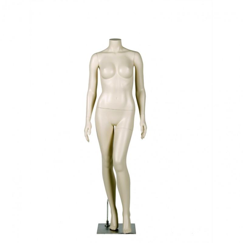 FEMALE MANNEQUIN – LEFT LEG BENT - DARROL 700 SERIES - NECK-LOCK SYSTEM