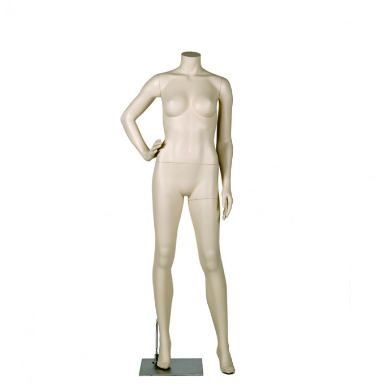 FEMALE MANNEQUIN – RIGHT HAND ON HIP - DARROL 700 SERIES - NECK-LOCK SYSTEM