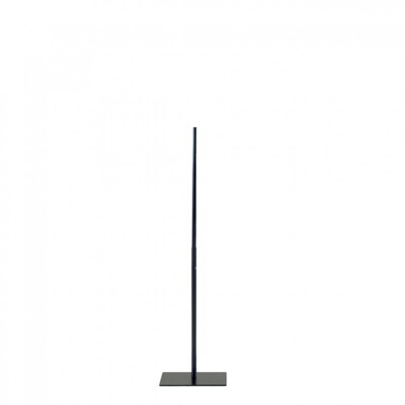 STAND WITH SQUARE BASE PLATE – FOR TORSOS AND BUSTS – BLACK – 118 cm