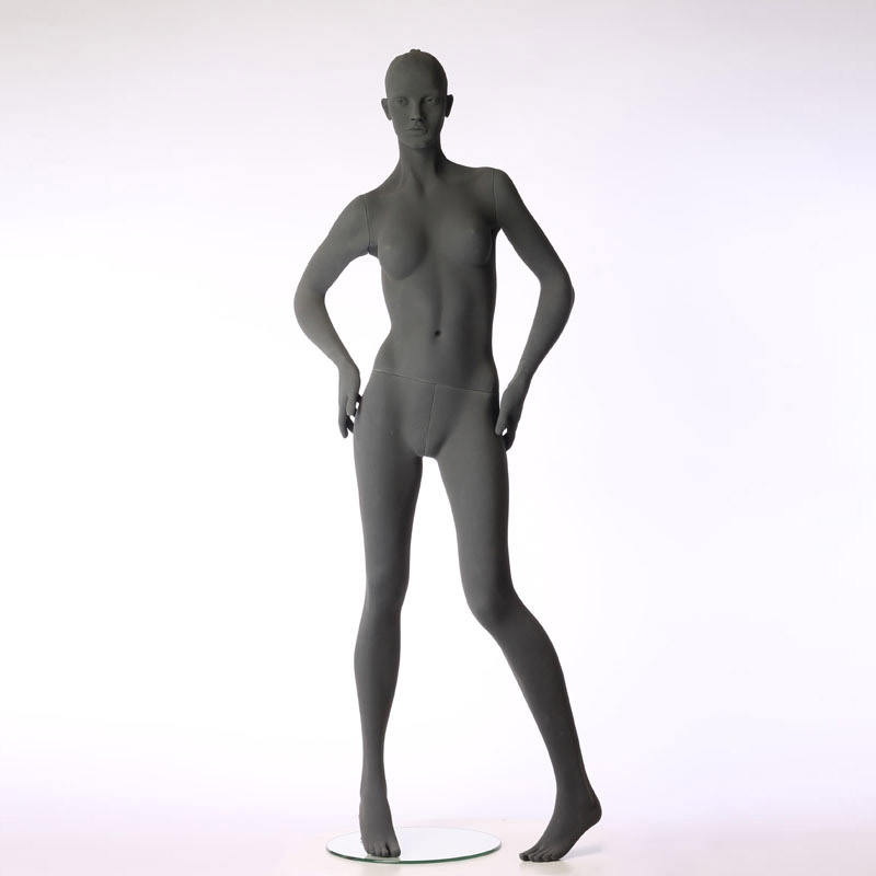 FEMALE MANNEQUIN – PURE STYLISED - WITH ROUGH SURFACE – HANDS ON HIPS – HINDSGAUL